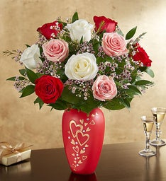 Romantic Medley in Follow Your Heart™ Vase