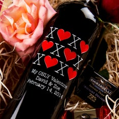 XOXO Personalized Wine Bottle