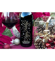 Graceful Holidays Personalized Wine Bottle