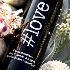 love Personalized Wine Bottle