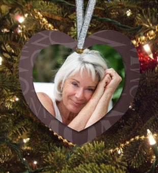 Mom Memorial Heart Ornament
