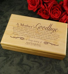 A Mothers Goodbye Alder Keepsake Box