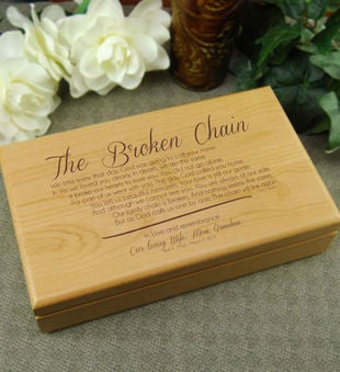 The Broken Chain Poem Keepsake Box
