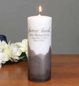 Forever Loved Personalized Candle