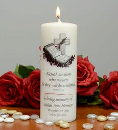 Blessed Are Those Who Mourn Memorial Candle