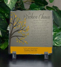Broken Chain Stone Plaque