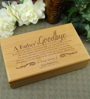 A Father's Goodbye Alder Keepsake Box