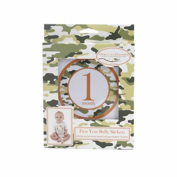 Camo Monthly Belly Stickers
