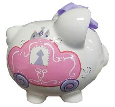 Personalized Hand-Painted Carriage Piggy Bank