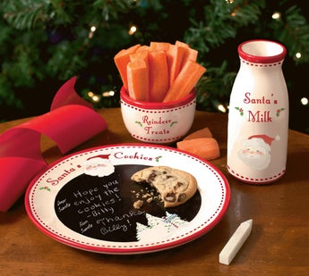 Santa Message Plate Set
