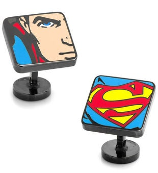 Superman Comic Squares Cufflinks