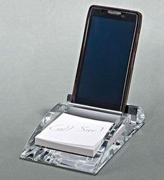 Engraved Phone Stand & Pad Tray