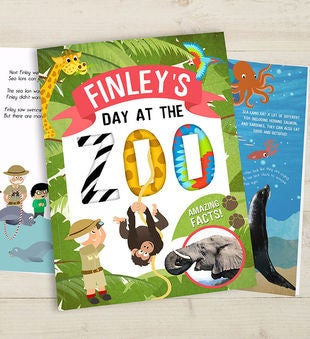 Personalized Day at the Zoo Hardcover Storybook