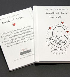 Personalized Chilli and Bubbles Book of Love
