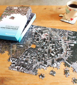 Personalized Hometown Aerial Map Puzzle