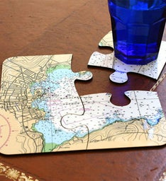 Personalized Nautical Coasters