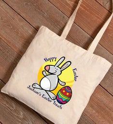 Easter Treats Personalized Canvas Bag