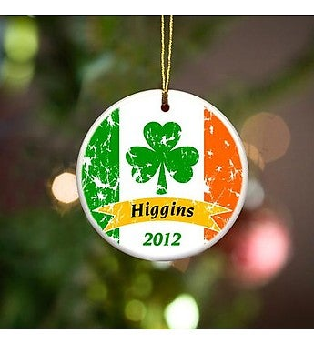 Personalized Irish Pride Ornament