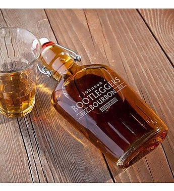 Personalized Bootleggers Glass Flask