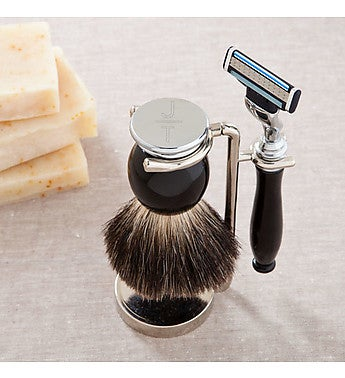 Engraved Modern Shaving Set