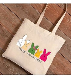 Personalized Easter Bunnies Canvas Bag