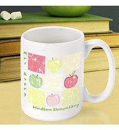 Personalized Patchwork Apples Mug
