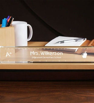 Engraved Teacher Nameplate
