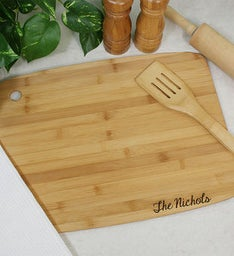 Engraved Classic Bamboo Cutting Board
