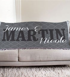 Personalized Couples Throw Blanket