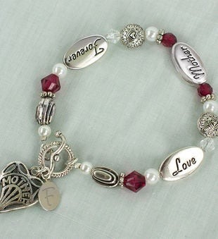 Personalized Forever Mom Bracelet
