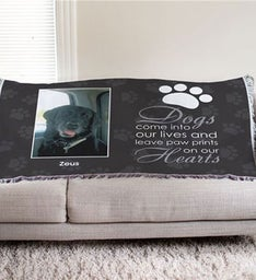 Personalized Dog Memorial Throw Bllanket