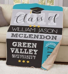 Personalized Class of Sherpa Throw
