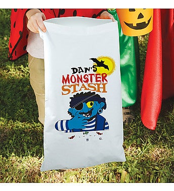 Personalized Monster Stash Trick or Treat Sack