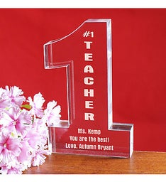 NUMBER ONE TEACHER KEEPSAKE