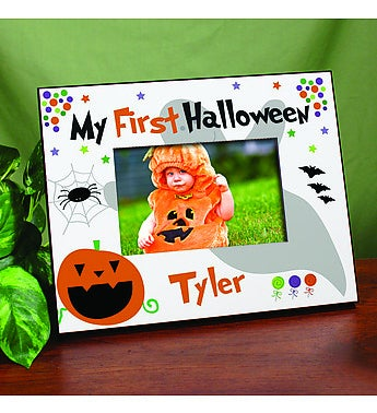 My First Halloween Personalized Printed Frame