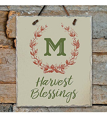 HARVEST BLESSINGS SLATE PLAQUE