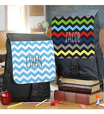 Personalized Chevron Backpack
