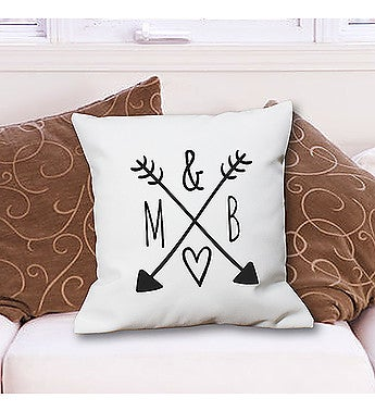 Personalized Arrows & Initials Throw Pillow