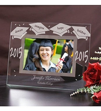 Engraved Graduation Glass Picture Frame