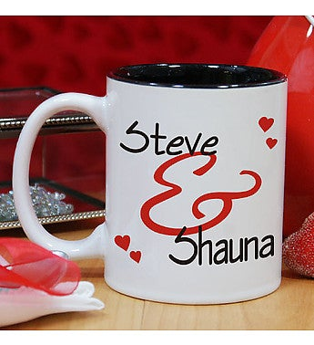 PERSONALIZED COUPLE'S ROMANTIC MUG