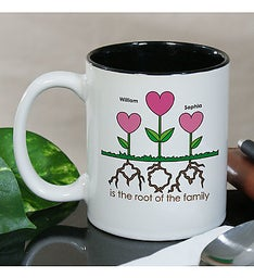 PERSONALIZED MOMS ROOTS COFFEE MUG
