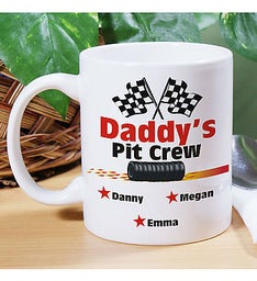 Personalized Daddys Pit Crew Coffee Mug