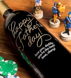 Personalized Beloved Happy Fathers Day Wine