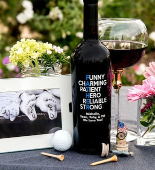 Personalized Funny Charming Father'S Day Wine