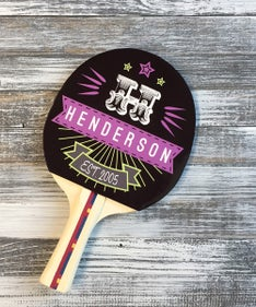 Customized The Henderson Ping Pong Paddle
