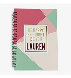 Personalized Be Happy Be Bright Be You Notebook
