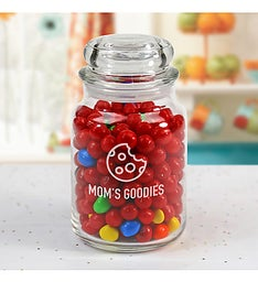 Personalized Grandmas Goodies Glass Jar