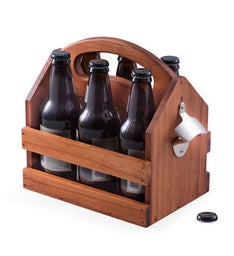Solid wood beer  beverage caddy