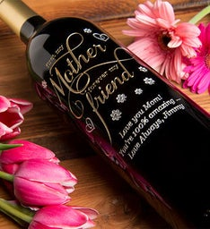 My Mother Forever My Friend Personalized Wine Bottle