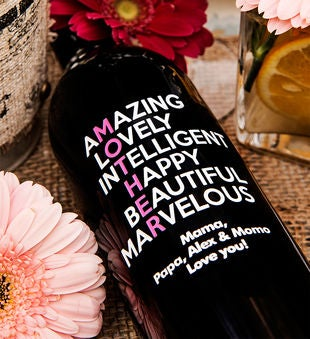 Amazing Lovely Mother's Day Personalized Wine Bottle